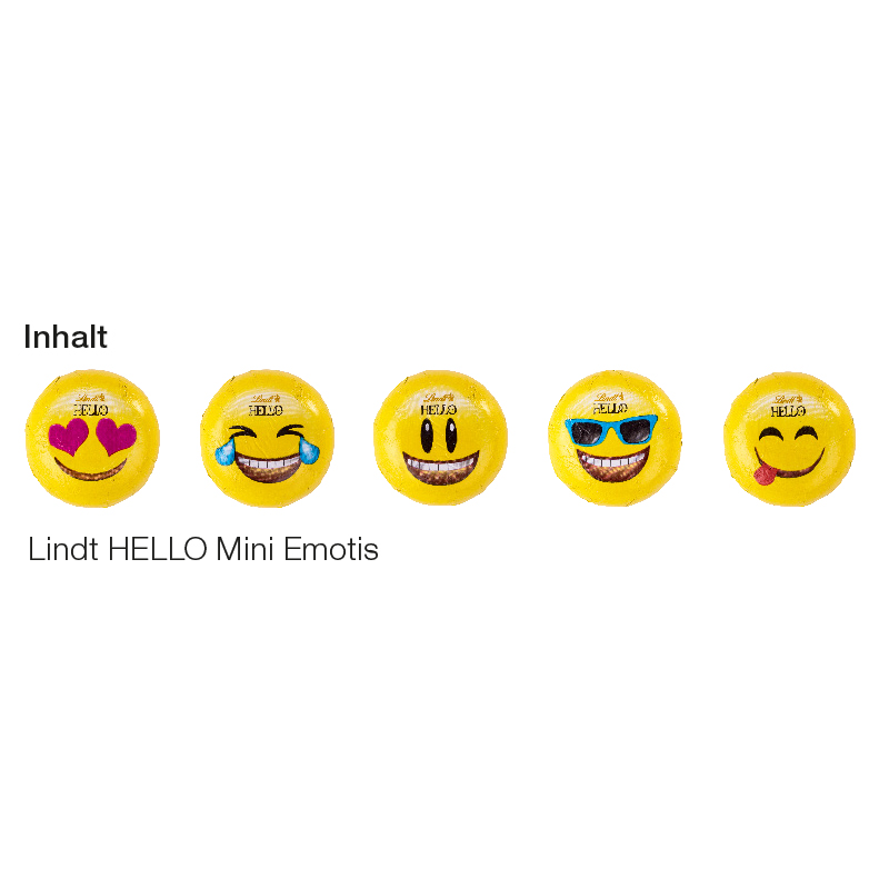 Werbekarte Lindt HELLO Mini Emoti